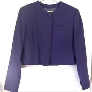Pendelton Royal Purple Cropped Wool Blazer